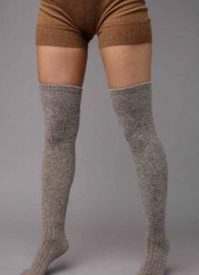 Dark Grey Camel Woolen Socks