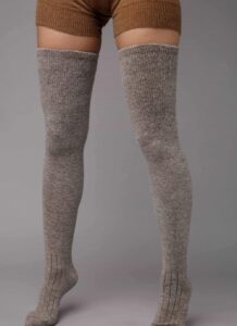 Dark Grey Yak Woolen Stocking