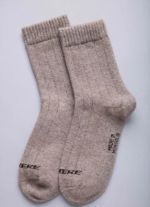 Gray Cashmere Socks