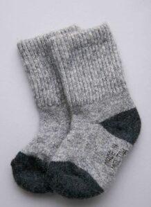 Children's Grey Yak Woolen Sock