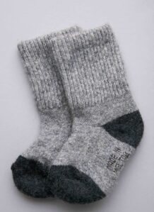 Children's Grey Yak Woolen Sock