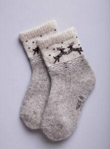 Grey Camel Woolen Children's Socks
