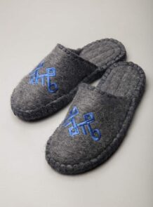 Grey Camel Woolen Slippers