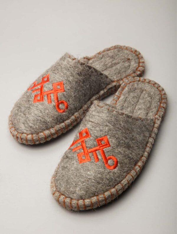 Camel Woolen Slippers