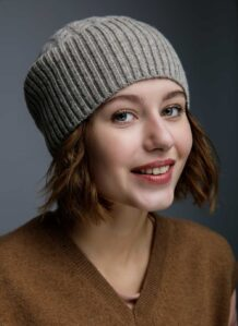 Grey Woolen Women's Hat