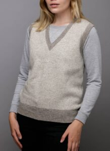 Grey Woolen Women's Vest
