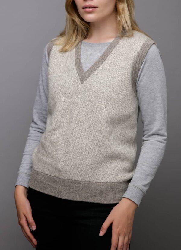 Grey Woolen Women's Vest