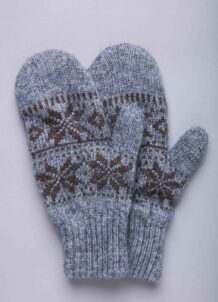 Grey Yak Childen's Mitten With Pattern