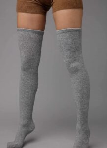 Grey Yak Woolen Stocking Without Pattern