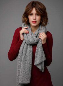 Grey Yak Woolen Women's Scarf