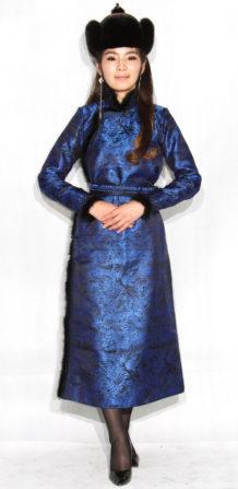 Blue Women's Deel with Sable Fur