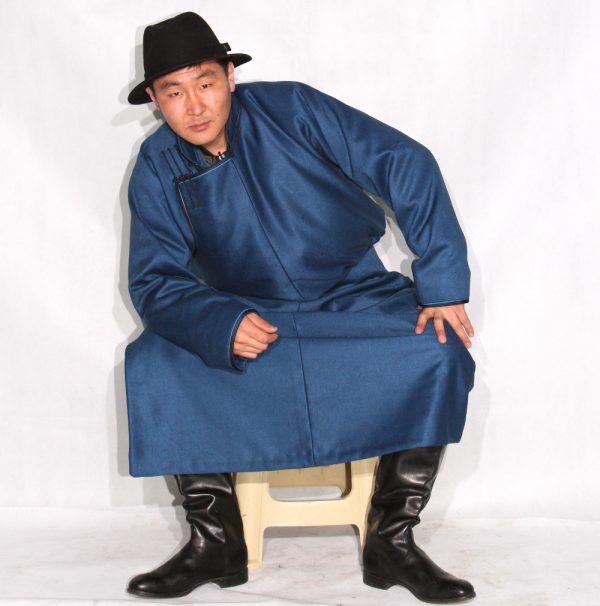 Mongolian Men's Blue Deel