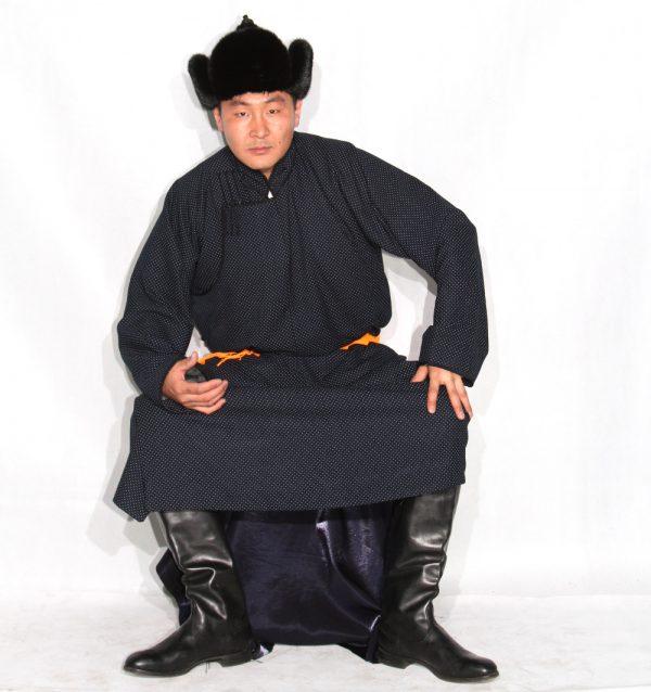 Mongolian Black Deel