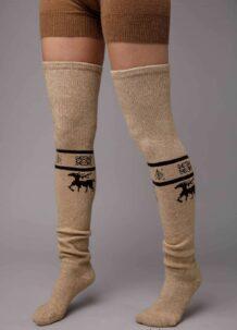 Light Brown Camel Woolen Stocking