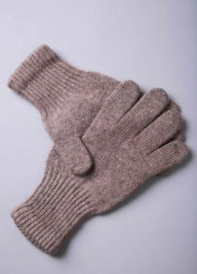 Light Brown Yak Woolen Adult's Gloves