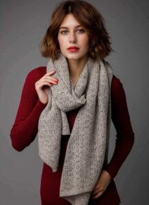 Light Grey Yak Woolen Women's Scarf