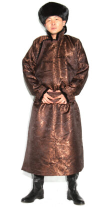 Men's Brown Deel with Sable Fur
