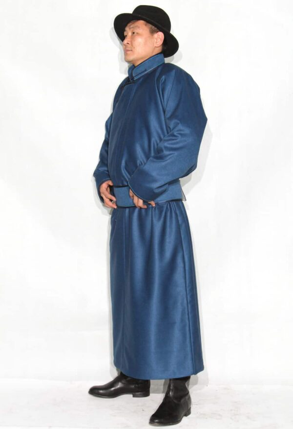 Mongolian Men's Blue Deel