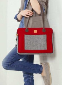 Red Woolen Women's bag