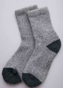 Socks made of wool Yak gray