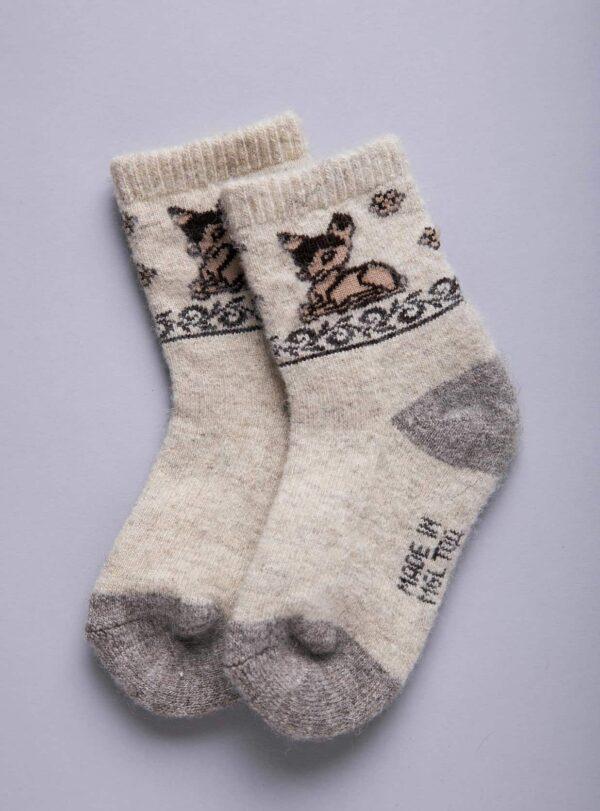 White Camel Woolen Children's Socks