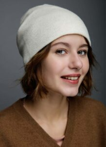 White Woolen Women's Hat