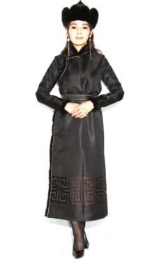Women's Black Deel with Sable Fur