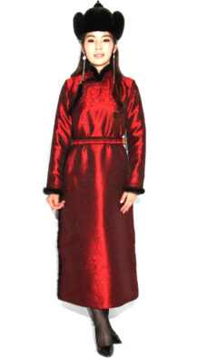 Women's Red Deel with Sable Fur