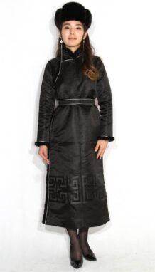 Women's Black Deel with Sable Fur