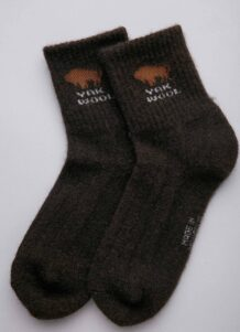 Dark Brown Yak Woolen Socks