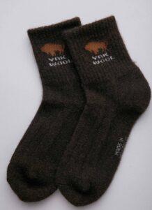 Dark Brown Yak Woolen Socks