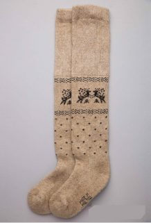 Brown Camel Woolen Children's Socks