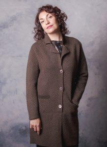 Dark Brown Yak Woolen Women's Coat