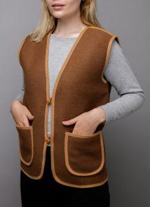 Brown Woolen Vest