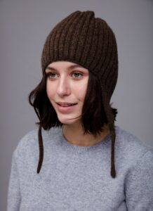 Dark Brown Hat with Earflaps