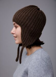 Sheep Wool Hat with Earflaps