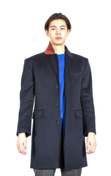 Men's Black Sheep Wool Coat