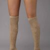 Camel Wool Knee High Socks