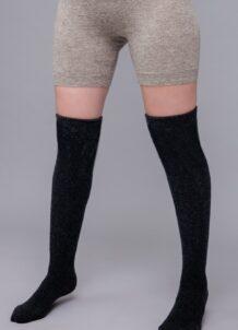 Black Knee High Socks