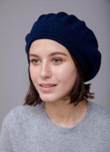 Dark Blue Beret Hat