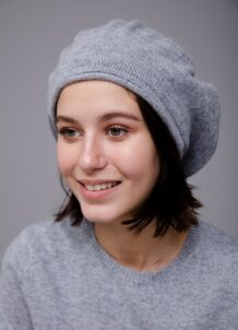 Gray Beret Hat