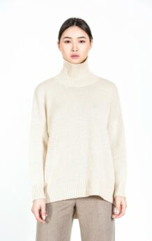 White Turtle Neck