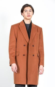 Orange Sheep Wool Coat