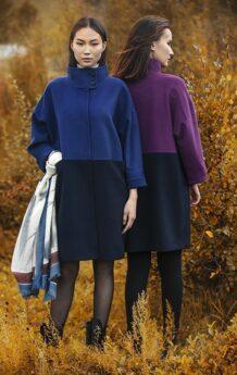 Purple Women Coat