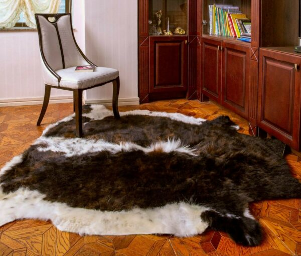 White and Brown Rug