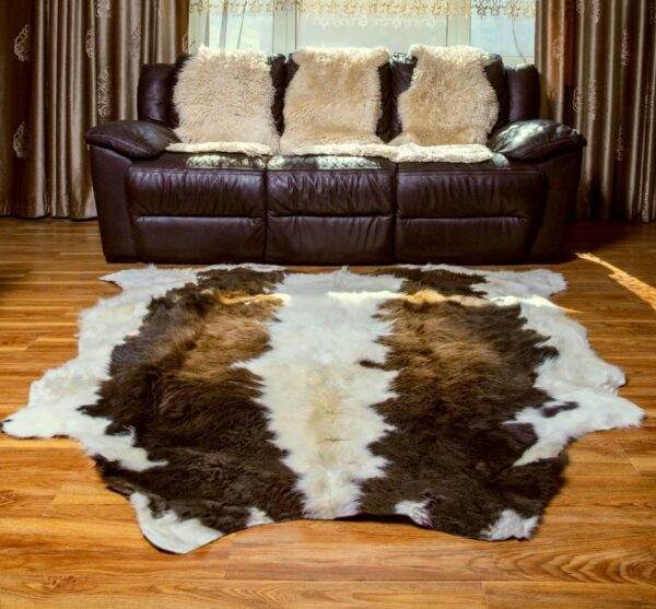 Brown and White Rug