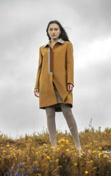 Yellow Women Coat