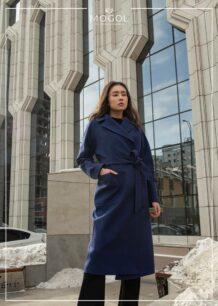 Women's Sheep Wool blue coat