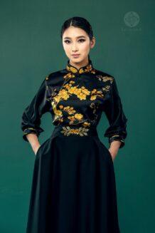 Mongolian Black Women'S Deel