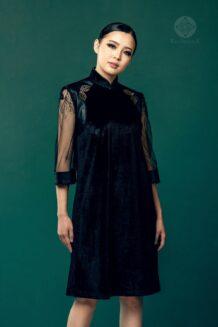 Mongolian Dark Blue Dress for Women